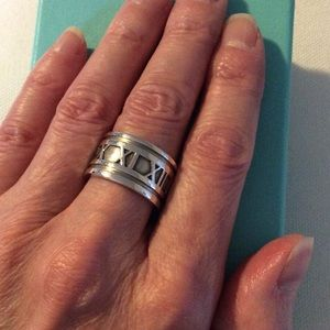 Tiffany & Co. Atlas Roman Numeral Wide Band Ring
